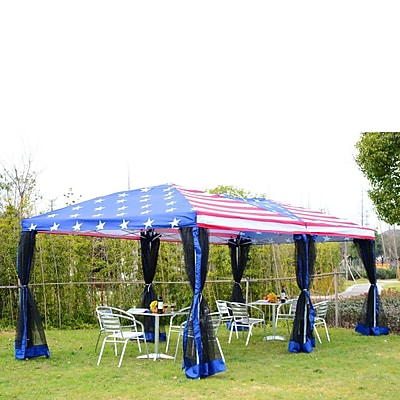 Outsunny Pop-Up Canopy Party Tent w/ Mesh