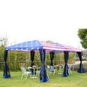 Outsunny Pop-Up Canopy Party Tent w/ Mesh Wall