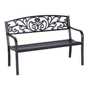 Outsunny Blossoming Decorative Steel Garden Bench