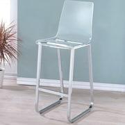 Hokku Designs Crystala 30.5'' Bar Stool (Set of 2); Clear