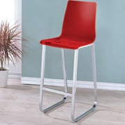 Hokku Designs Crystala 30.5'' Bar Stool (Set of 2); Red