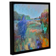 ArtWall 'Color Field 45' by Jane Schmidt Framed Painting Print on Canvas; 18'' H x 18'' W x 2'' D