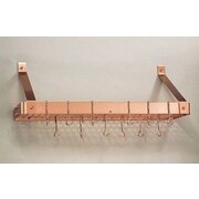 Old Dutch Wall Mounted Pot Rack w/ Grid; Copper