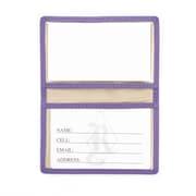 Royce Leather Slim ID Credit Card Wallet(403-PURPLE-5)