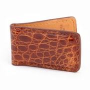 Royce Leather Luxury Magnetic Money Clip Wallet (817-COGNAC-CR)