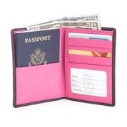 Royce Leather RFID Blocking Bifold Passport Currency Travel Wallet (RFID-222-BLWB-5)