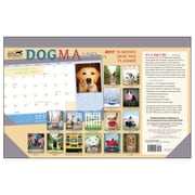 2017 Sellers Publishing Inc 11x17 Dogma: A Dog's Guide to Life Monthly Desk Pad Planner Calendar (CD4450)