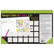 2017 Sellers Publishing Inc 11x17 Keep Calm & Color On Monthly Desk Pad Planner Calendar (CD4451)