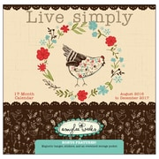 2017 Sellers Publishing Inc  12x12 Live Simply - Artwork by Amylee Weeks, Monthly Wall Planner Calendar (CP4364)