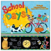2017 Sellers Publishing Inc  12x12 School Days Monthly Wall Planner Calendar (CP4363)