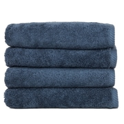 Linum Home Textiles Soft Twist 100pct Turkish Cotton Hand Towel (Set of 4); Blue