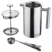 VonShef Stainless Steel French Press Cafetiere Coffee Maker; 12 oz.