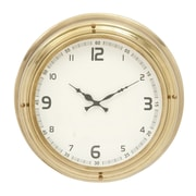 Cole & Grey 18'' Stainless Steel Wall Clock