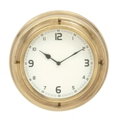 Cole & Grey 14'' Stainless Steel Wall Clock