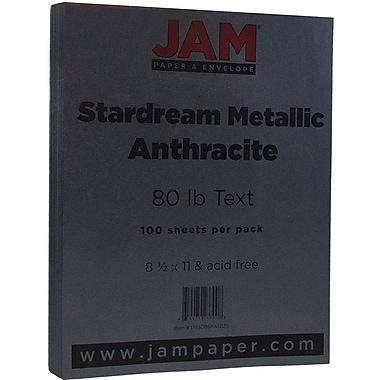 Jam PaperMD – Papier métallique Stardream, 8 1/2 x 11 po, anthracite/gris foncé, paquet de 100