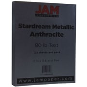 JAM Paper® Metallic Paper, 8.5 x 11, 80lb Stardream Anthracite Black, 25/pack (I73SD8511AN120B)
