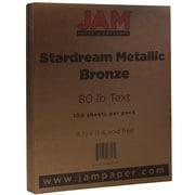 JAM Paper® Metallic Paper, 8.5 x 11, 80lb Stardream Bronze, 100/pack (173SD8511BR120)