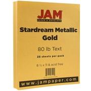 JAM Paper® Metallic Paper, 8.5 x 11, 80lb Stardream Gold, 25/pack (173SD8511GO120B)