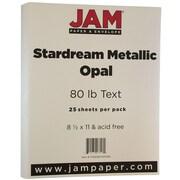 JAM Paper® Metallic Paper, 8.5 x 11, 80lb Stardream Opal, 25/pack (173SD8511OP120B)