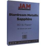 JAM Paper® Metallic Paper, 8.5 x 11, 80lb Stardream Sapphire Blue, 25/pack (173SD8511SA120B)
