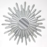 Fetco Home Decor Bembury Sunburst Mirror; Silver