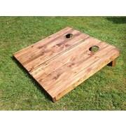 All American Tailgate Stained Wood Slat Cornhole Board (Set of 2)