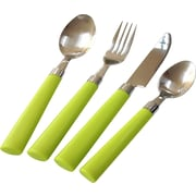Linen Depot Direct MAX 24 Piece Flatware Set; Green