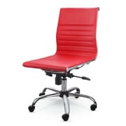 Winport Industries Mid-Back Leather Conference Chair; Red