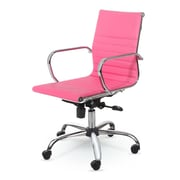 Winport Industries Mid-Back Swivel Task Chair; Pink