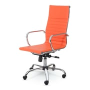 Winport Industries High-Back Swivel Task Chair; Orange