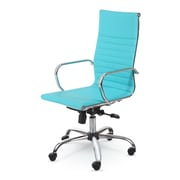 Winport Industries High-Back Swivel Task Chair; Turquoise
