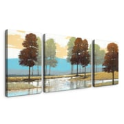 Artefx Decor 'Cool Mountain Springs' 3 Piece Painting Print on Wrapped Canvas Set
