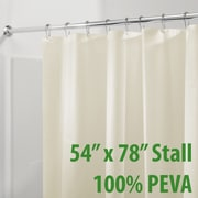 InterDesign Mildew Free PEVA 3 Gauge Shower Curtain Liner
