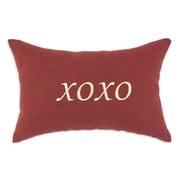 Brite Ideas Living Circa Solid Lava ''XOXO'' Linen Lumbar Pillow