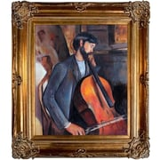 Tori Home The Cellist by Modigliani Framed Original Painting