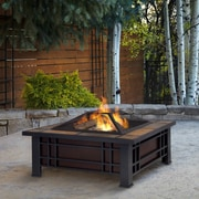 Real Flame Morrison Wood Burning Fire Pit Table