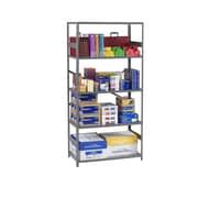 Tennsco Standard 5 Shelf Shelving Unit Starter; 75'' H x 36'' W x 12'' D