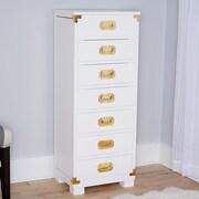 Hives & Honey Priscilla Jewelry Armoire w/ Mirror; White with Gold