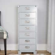 Hives & Honey Priscilla Jewelry Armoire with Mirror; Gray with Silver