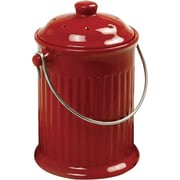 Norpro 1 cu. ft. Kitchen/Countertop Composter; Ceramic Red