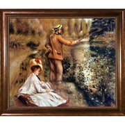 La Pastiche The Fisherman, 1874 by Pierre-Auguste Renoir Framed Painting Print