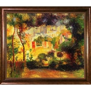 La Pastiche Looking Out at the Sacre Coeur, 1896 by Pierre-Auguste Renoir Framed Painting Print