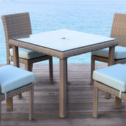 South Sea Rattan St Tropez Dining Table; Espresso