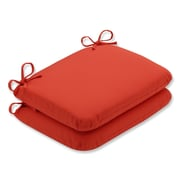 Pillow Perfect Splash Outdoor Chair Seat Cushion (Set of 2); Mango