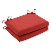 Pillow Perfect Rave Outdoor Chair Seat Cushion (Set of 2); Flame