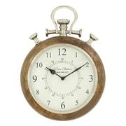Cole & Grey Wood Metal Wall Clock