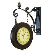 Cole & Grey Metal Wall 2 Side Clock