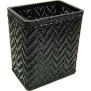 Redmon Elegante 3 Wicker/Rattan Trash Can; Black