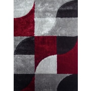 Rug Factory Plus Lola Hand-Tufted Gray/Red Area Rug