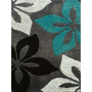 Rug Factory Plus Lola Hand-Tufted Gray/Turquoise Area Rug